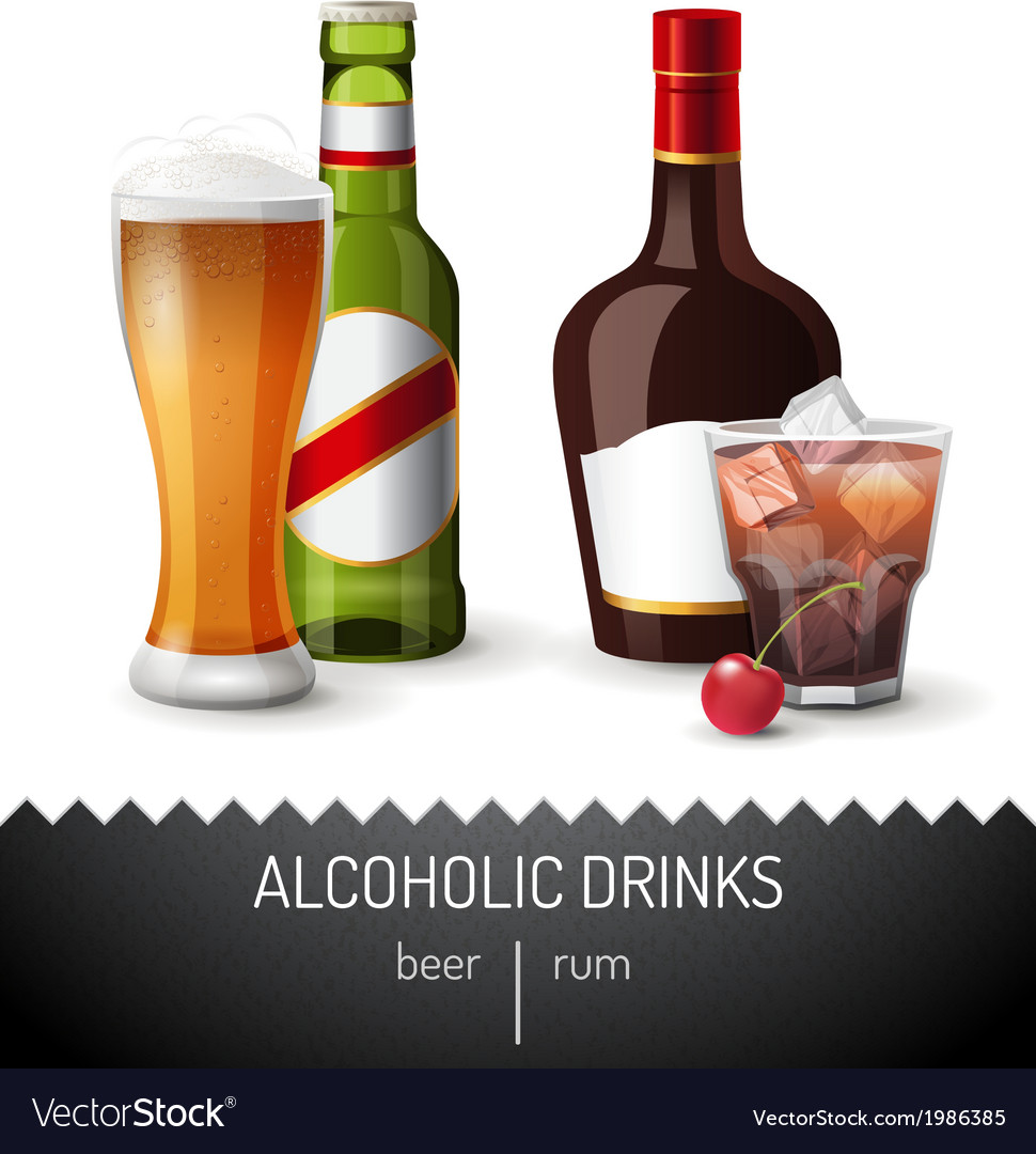 Alcoholic drinks vector | Price: 3 Credit (USD $3)