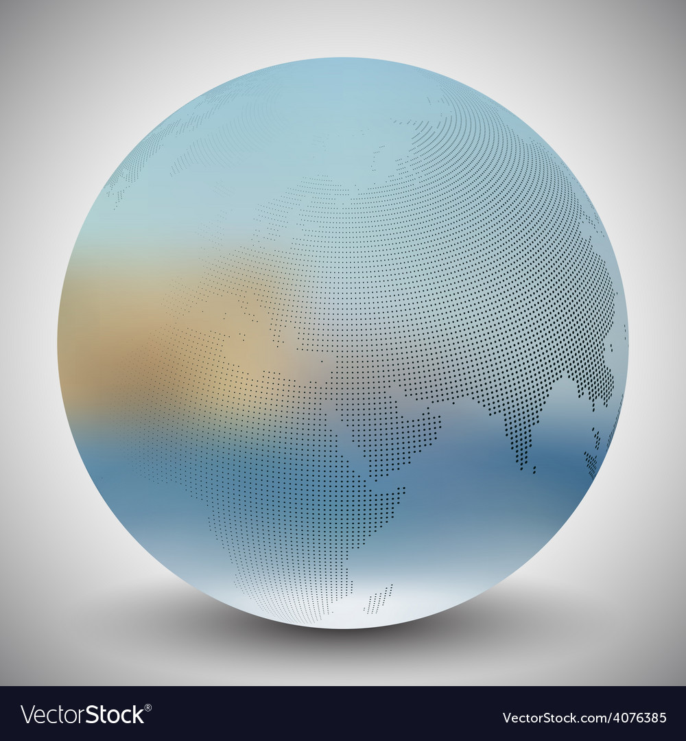 Dotted world globe blurred design vector | Price: 1 Credit (USD $1)