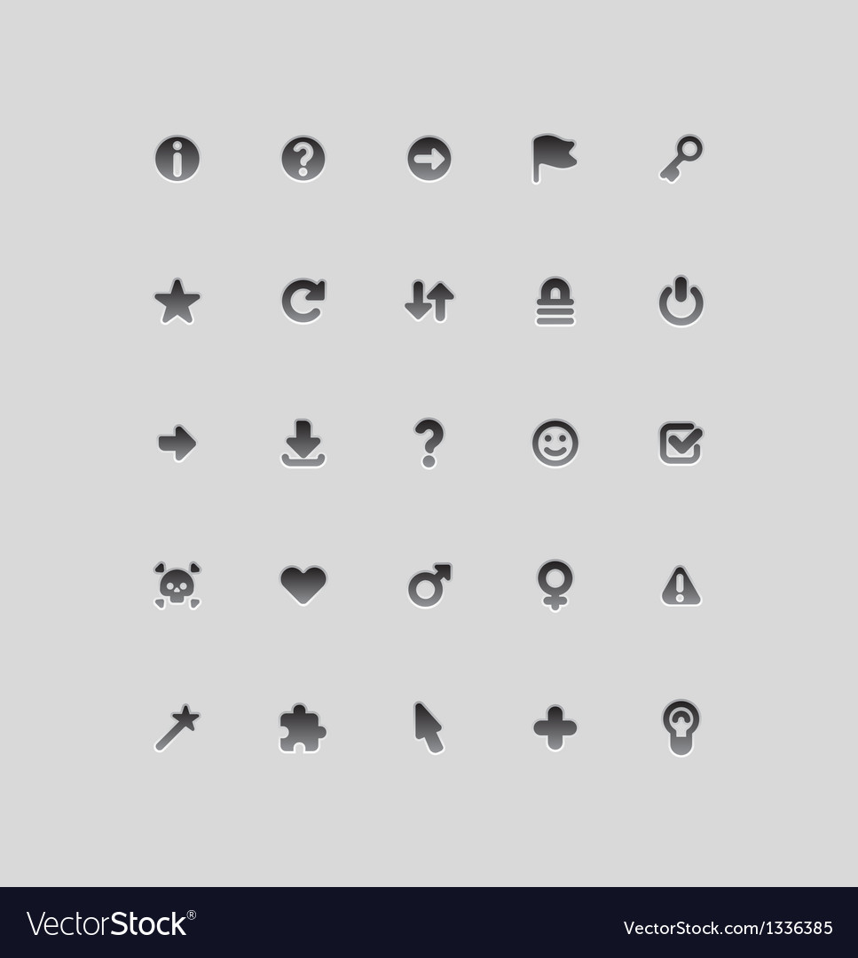 Interface icons for signs vector | Price: 1 Credit (USD $1)