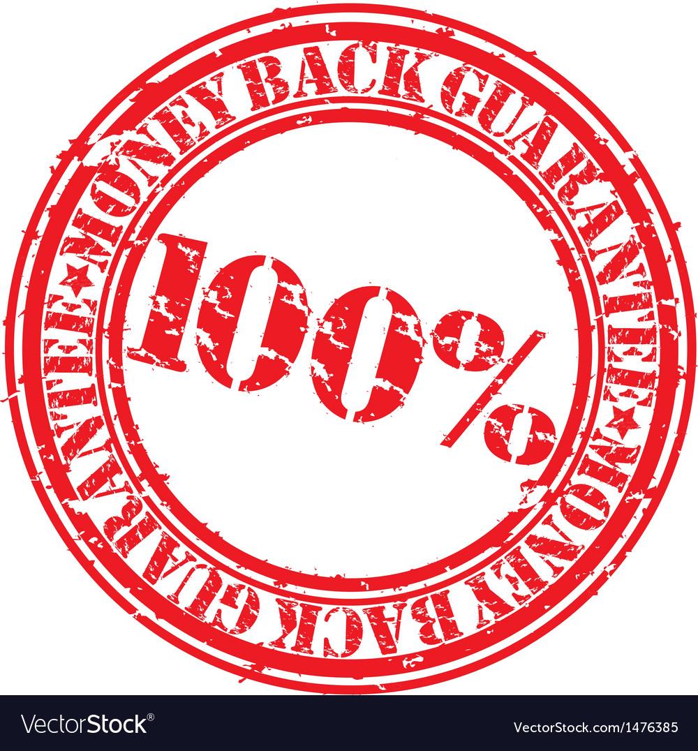 Money back guarantee 100 percent stamp vector   Price: 1 Credit (USD $1)
