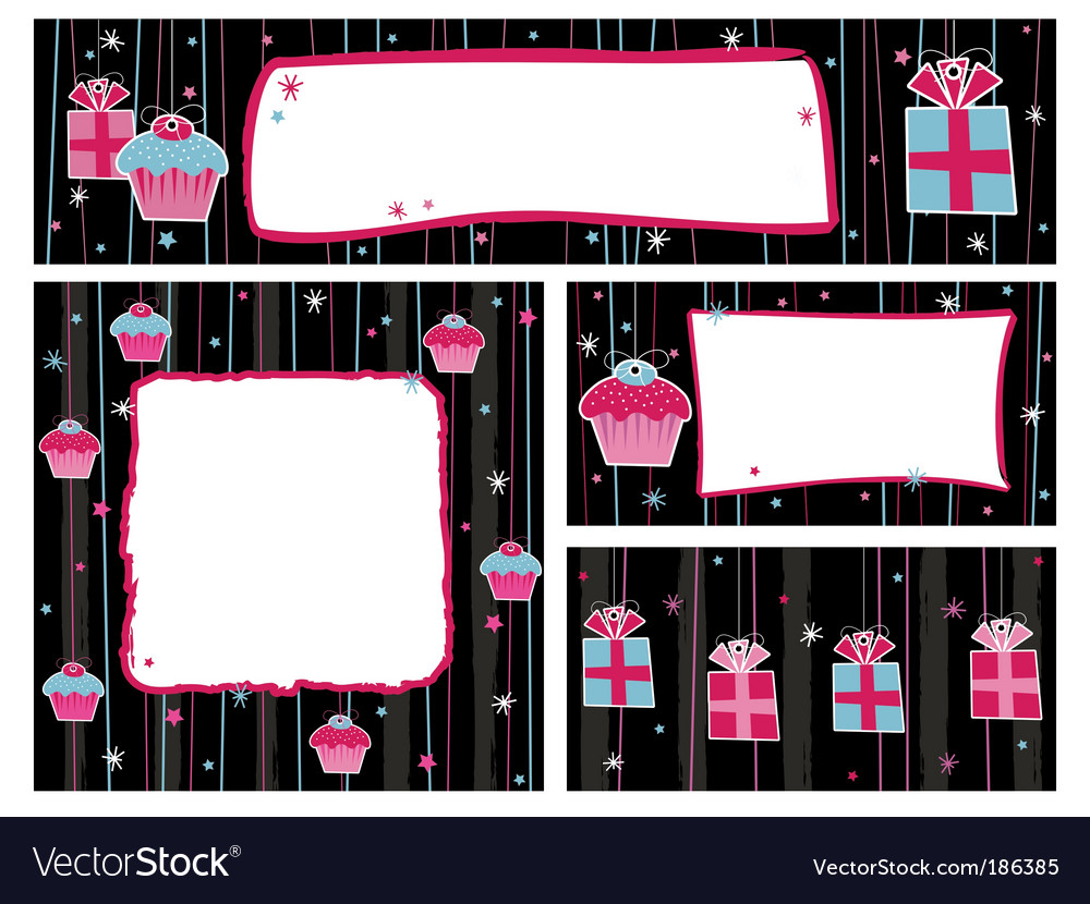 Party banners and frames vector | Price: 1 Credit (USD $1)