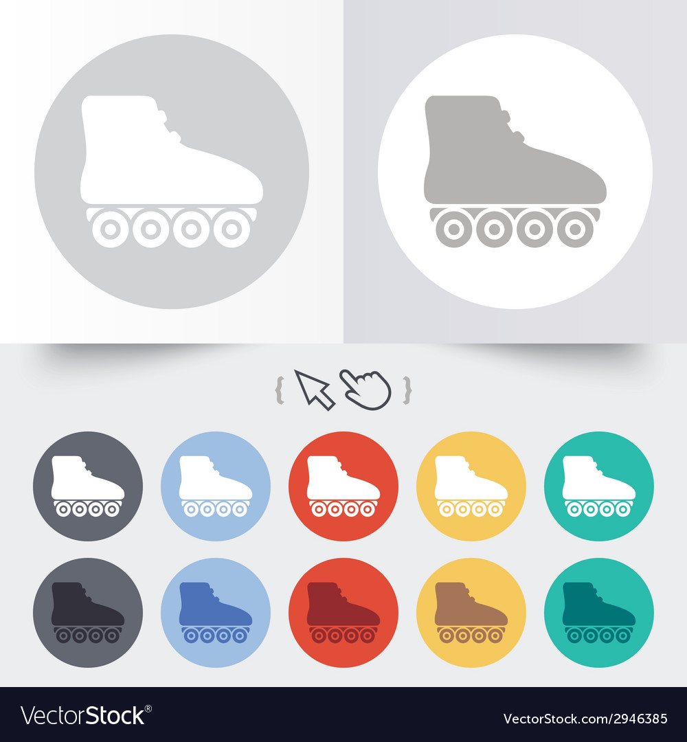 Roller skates sign icon rollerblades symbol vector | Price: 1 Credit (USD $1)