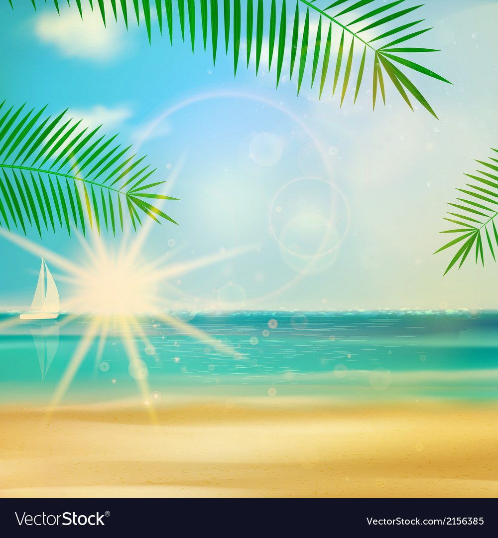 Sea beach for summer design vector | Price: 1 Credit (USD $1)