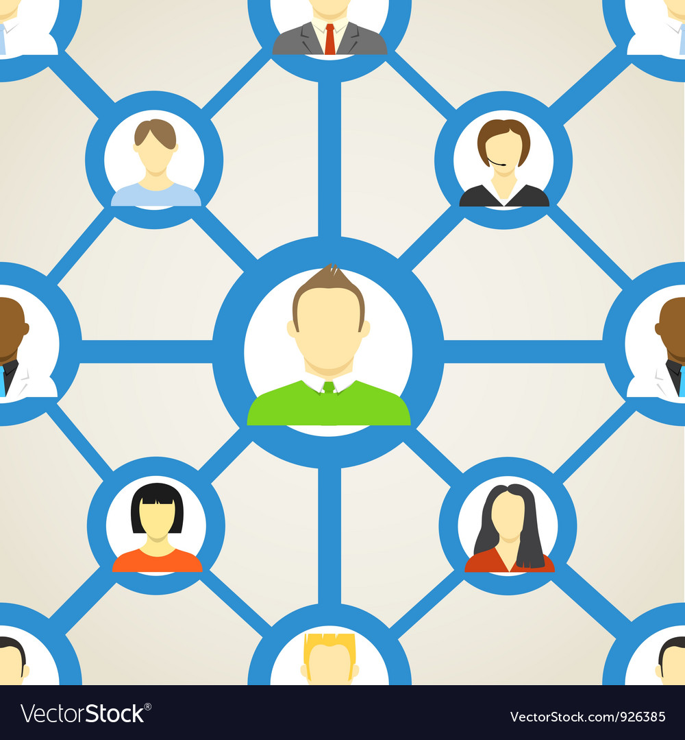 Seamless background of people on social network vector | Price: 1 Credit (USD $1)
