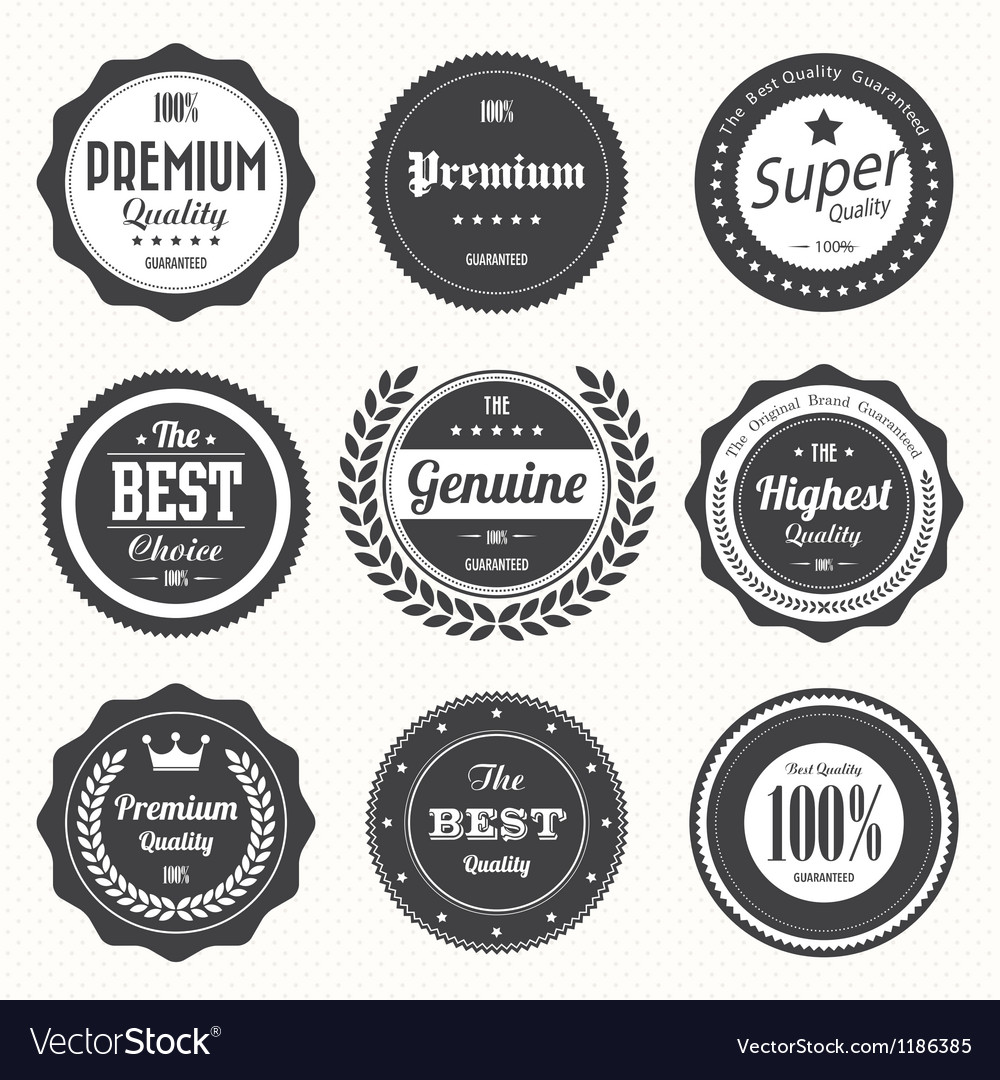 Set of retro vintage badges and labels vector | Price: 1 Credit (USD $1)