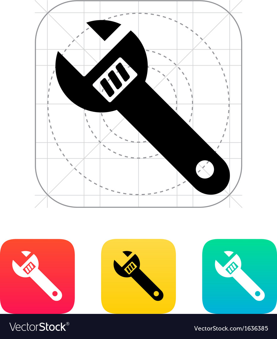 Spanner icon vector | Price: 1 Credit (USD $1)