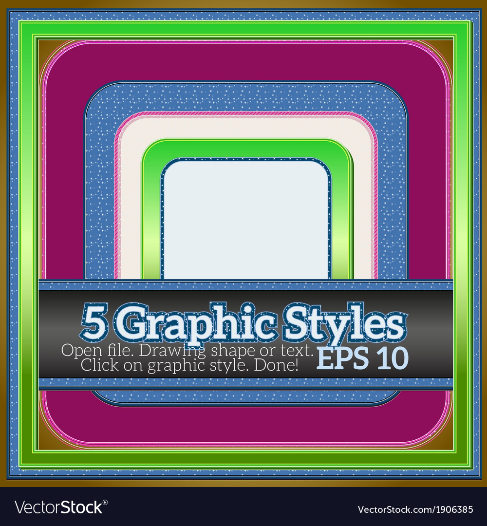 Sweet colorful graphic styles for various design vector | Price: 1 Credit (USD $1)