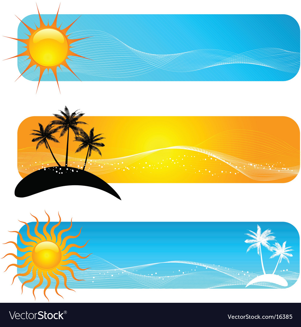 Tropical banners vector | Price: 1 Credit (USD $1)
