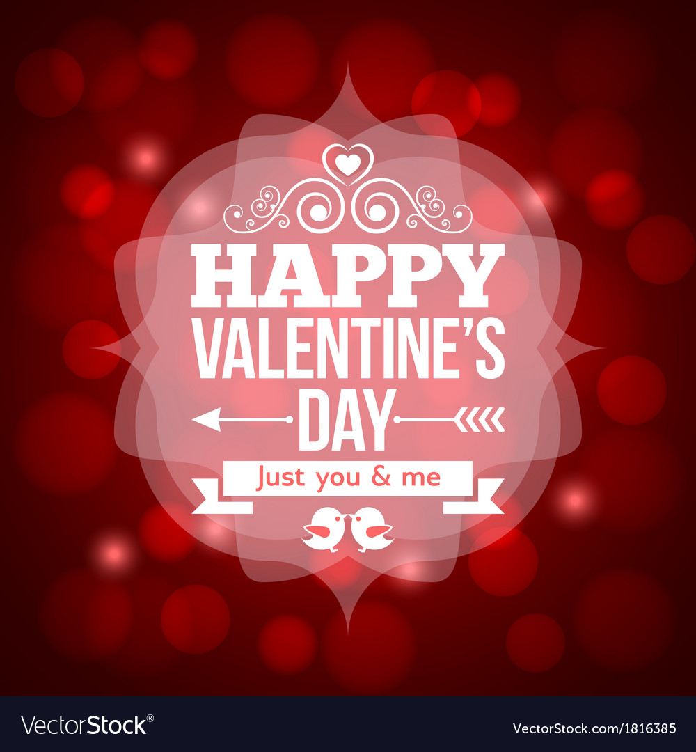 Valentines day invitation design background vector | Price: 1 Credit (USD $1)