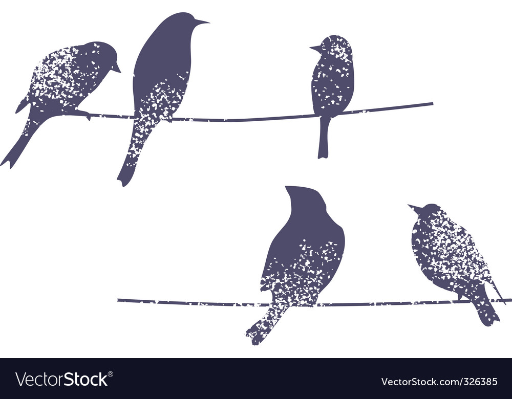 Wire birds vector | Price: 1 Credit (USD $1)
