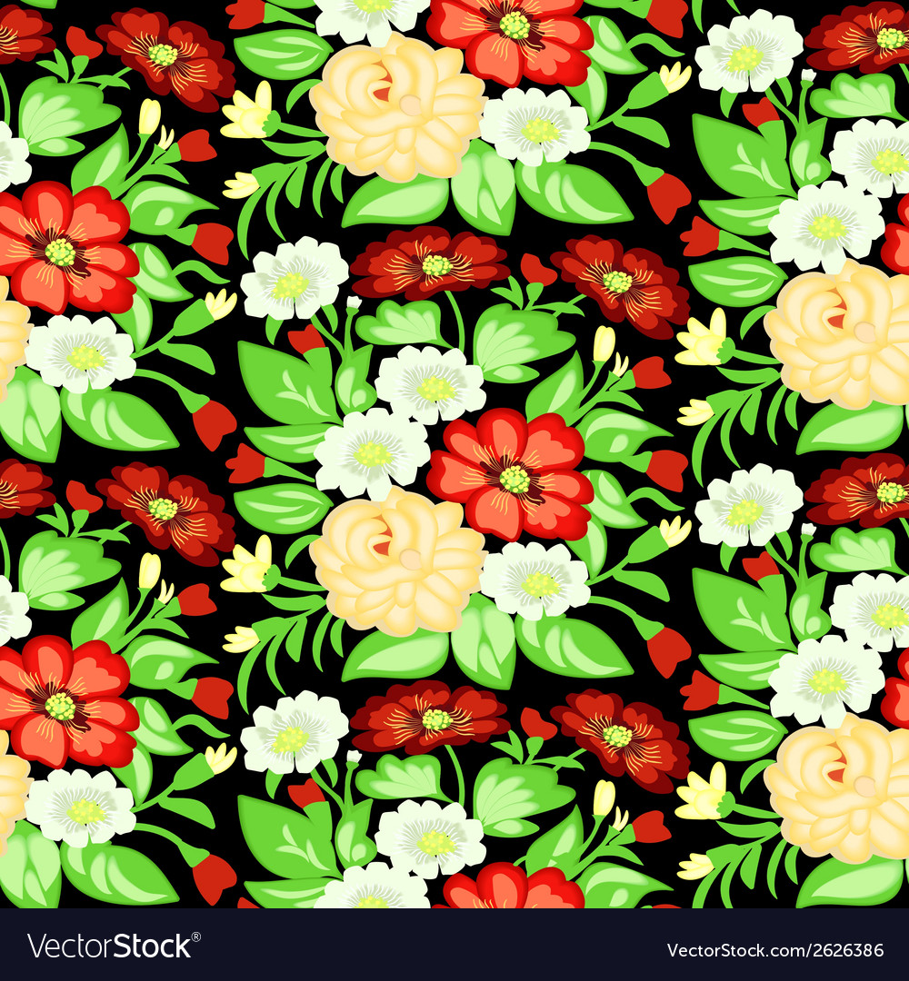 Background with a pattern of flowers vector | Price: 1 Credit (USD $1)