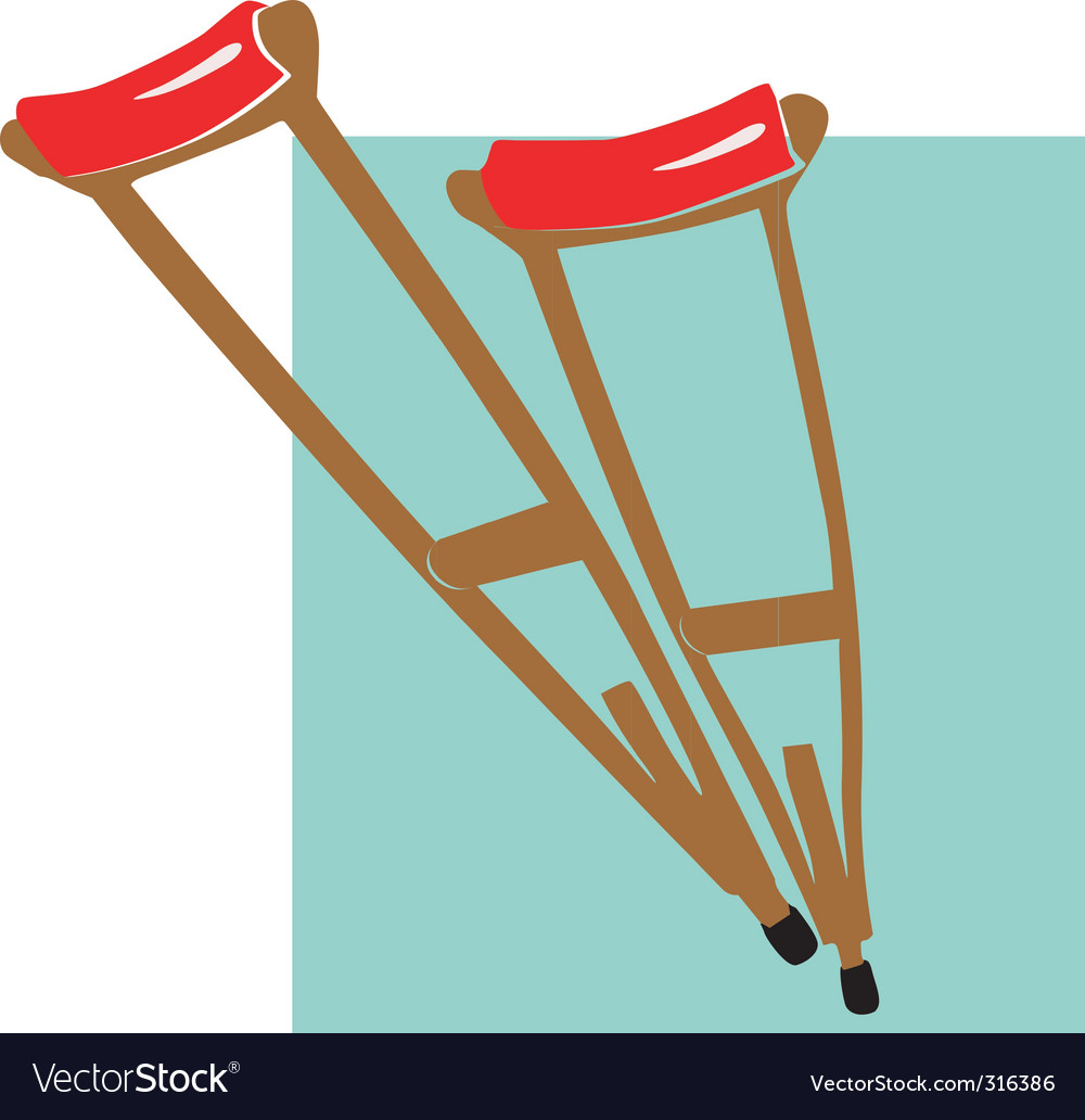 Crutches vector | Price: 1 Credit (USD $1)