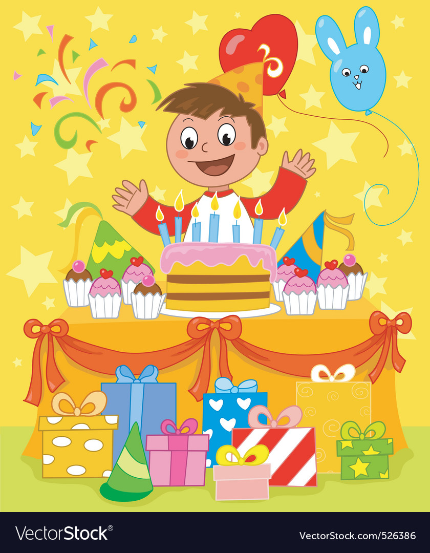 Happy birthday party vector | Price: 3 Credit (USD $3)