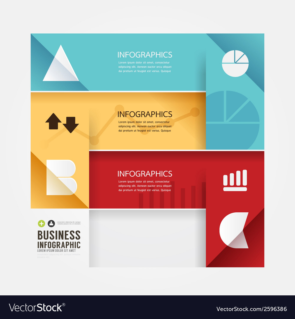 Modern design minimal style infographic templateca vector | Price: 1 Credit (USD $1)