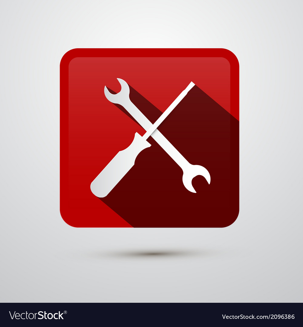 Repair tools icon - screwdriver and spanner wrench vector | Price: 1 Credit (USD $1)