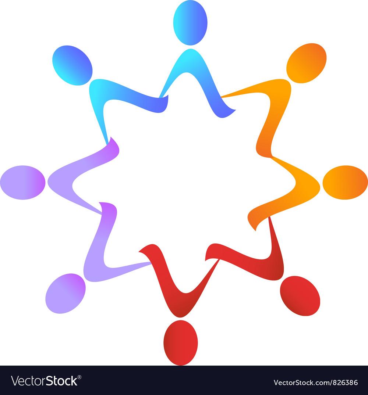Teamwork group logo vector | Price: 1 Credit (USD $1)