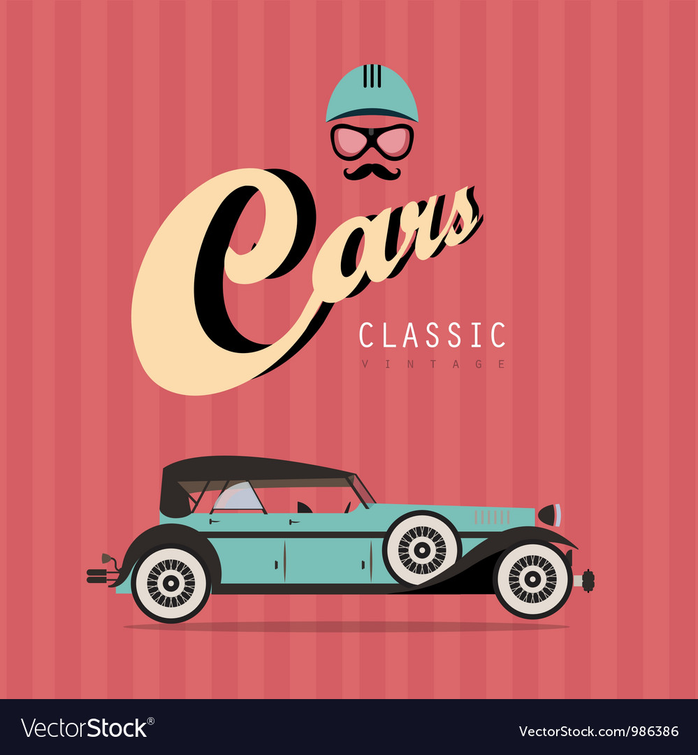 Vintage classic car vector | Price: 3 Credit (USD $3)