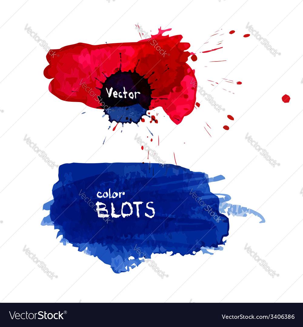 Watercolor blots vector | Price: 1 Credit (USD $1)