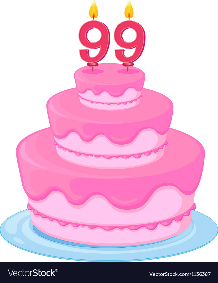 A birthday cake vector | Price: 1 Credit (USD $1)