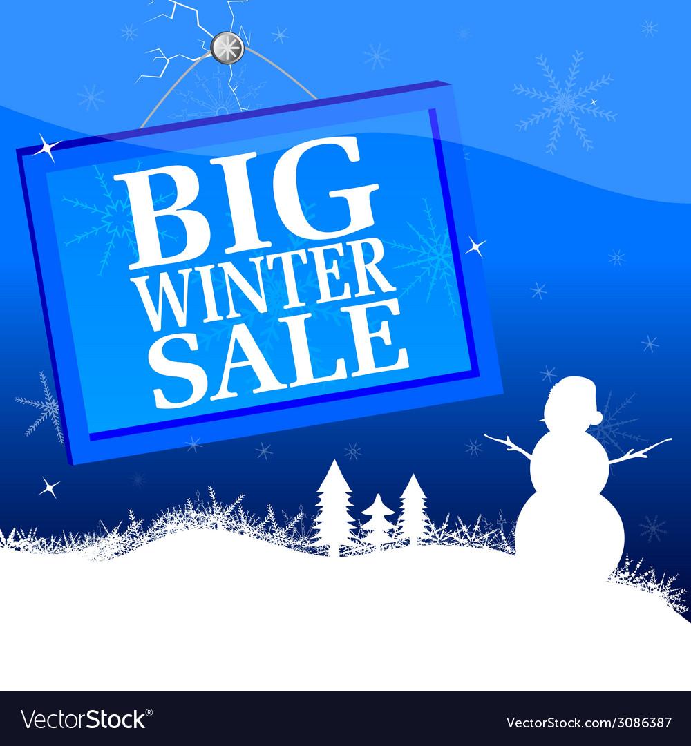 Big winter sale vector | Price: 1 Credit (USD $1)