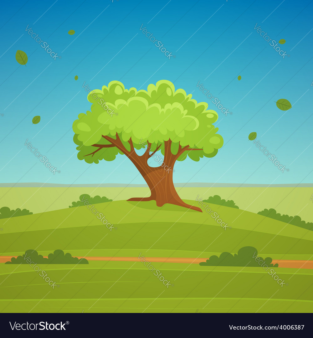 Cartoon landscape vector | Price: 5 Credit (USD $5)