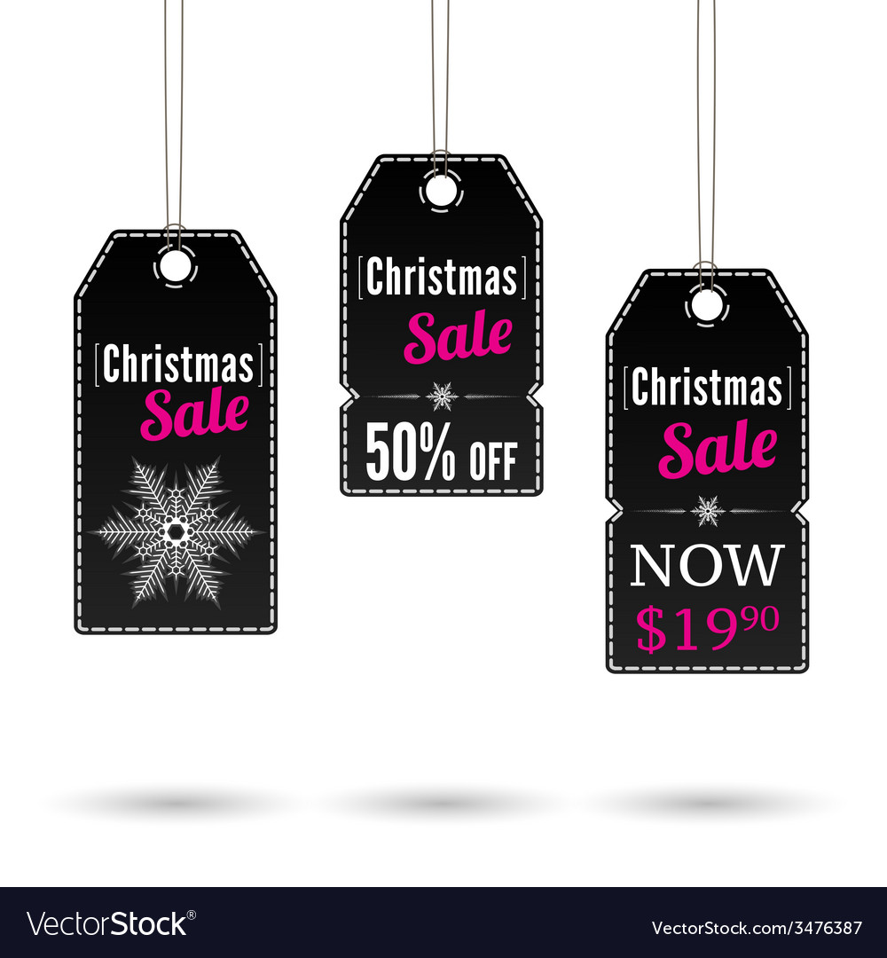 Christmas sale label vector | Price: 1 Credit (USD $1)