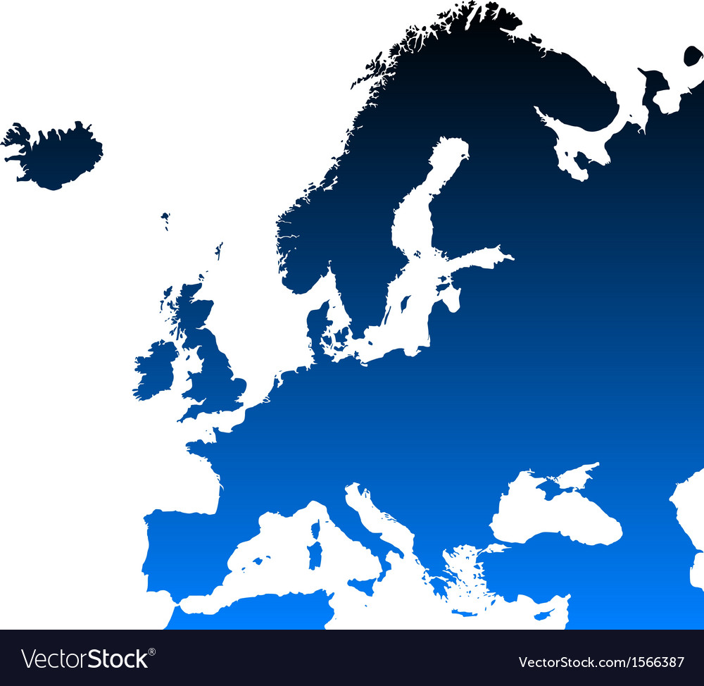 Detailed map of europe vector | Price: 1 Credit (USD $1)