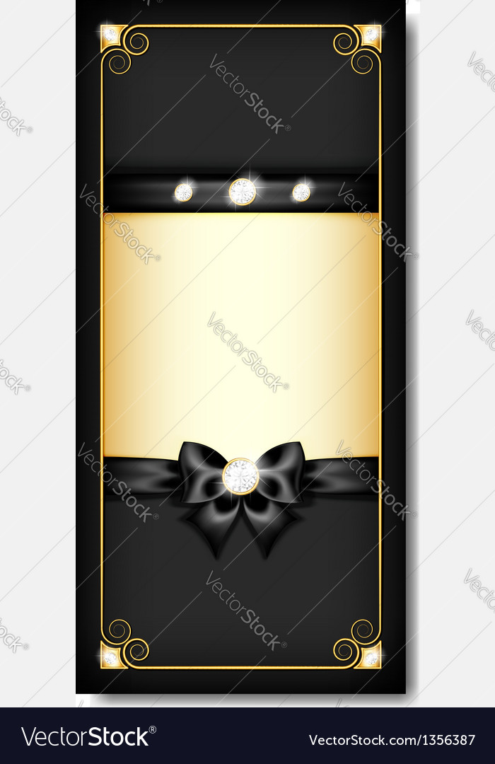 Greeting card black vector | Price: 1 Credit (USD $1)