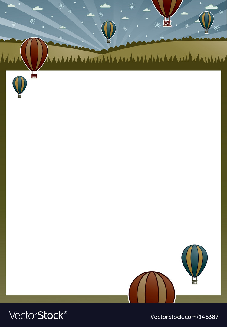 Hot air balloon poster vector | Price: 1 Credit (USD $1)