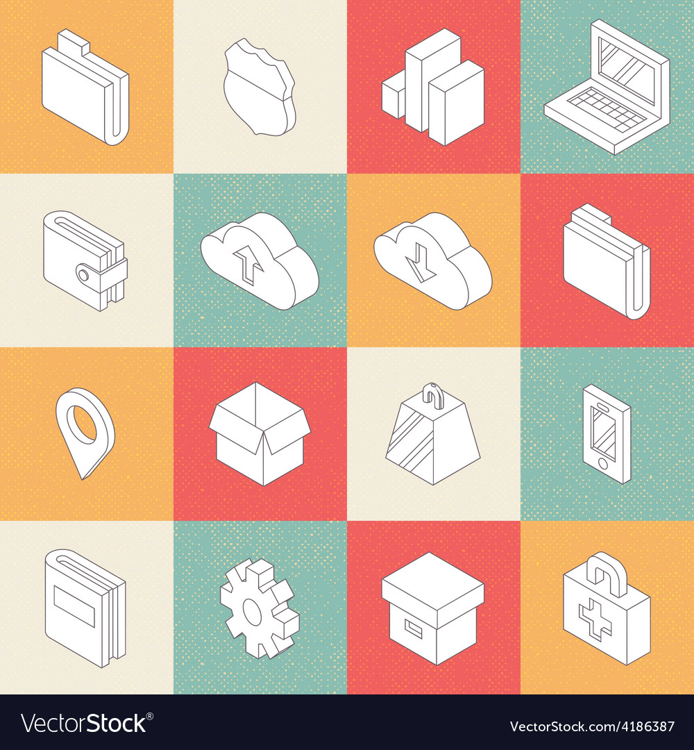 Modern flat icons 4 vector | Price: 1 Credit (USD $1)
