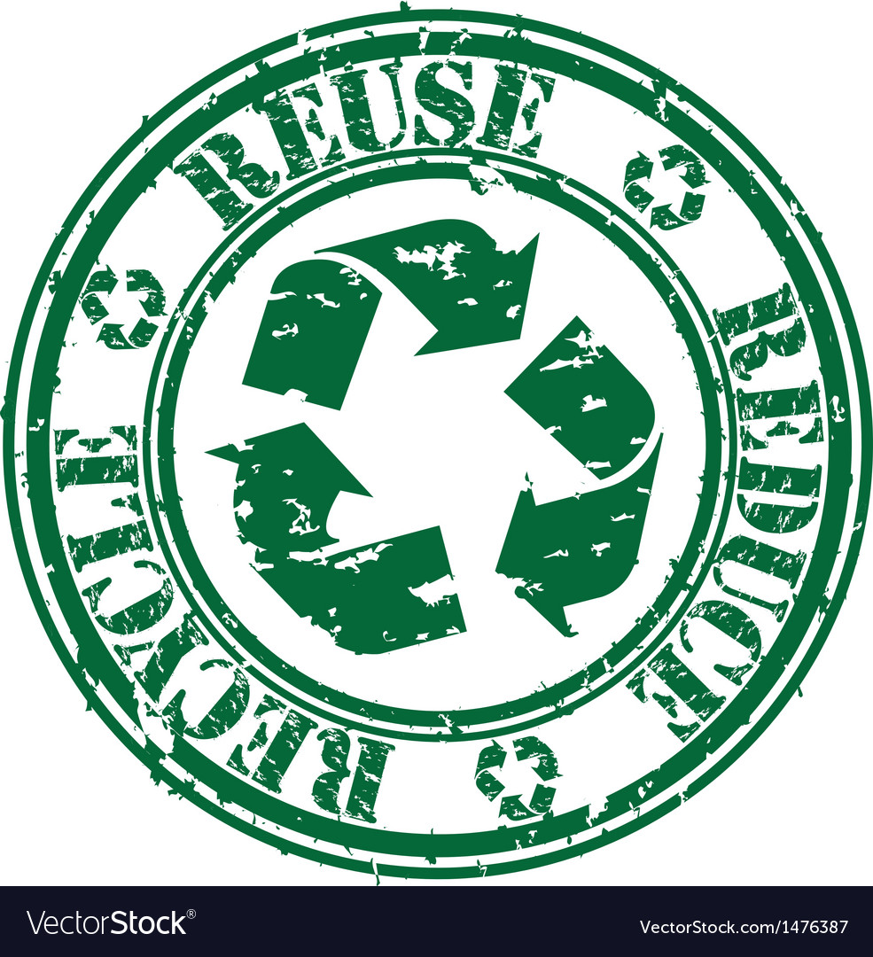 Reuse reduce recycle stamp vector | Price: 1 Credit (USD $1)