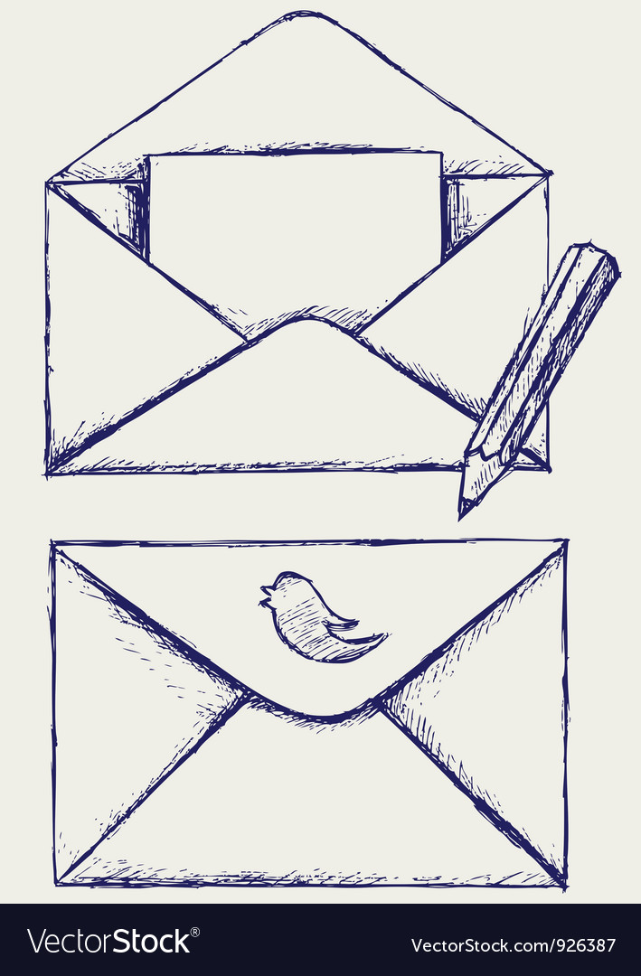Sketch envelope vector | Price: 1 Credit (USD $1)