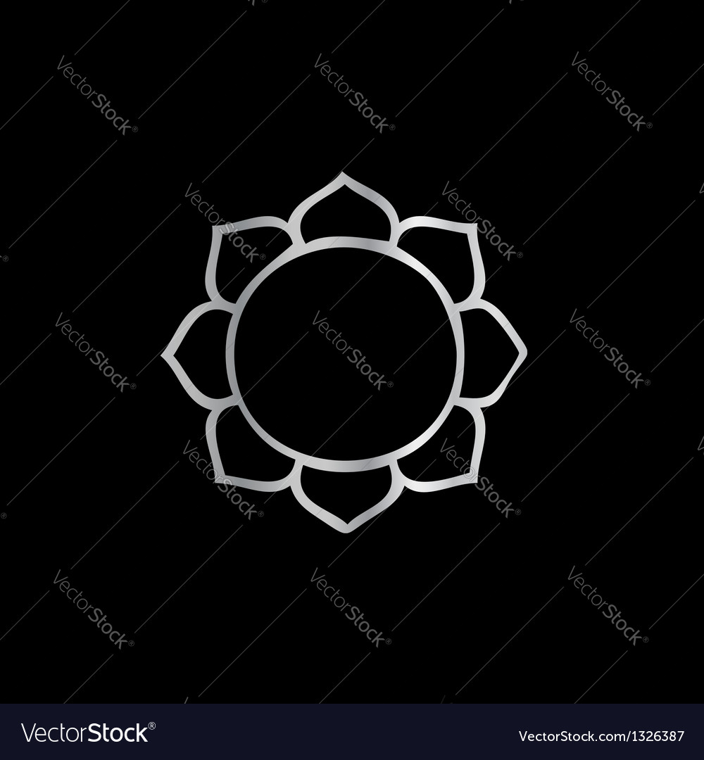 Symbol of buddhism- lotus flower vector | Price: 1 Credit (USD $1)