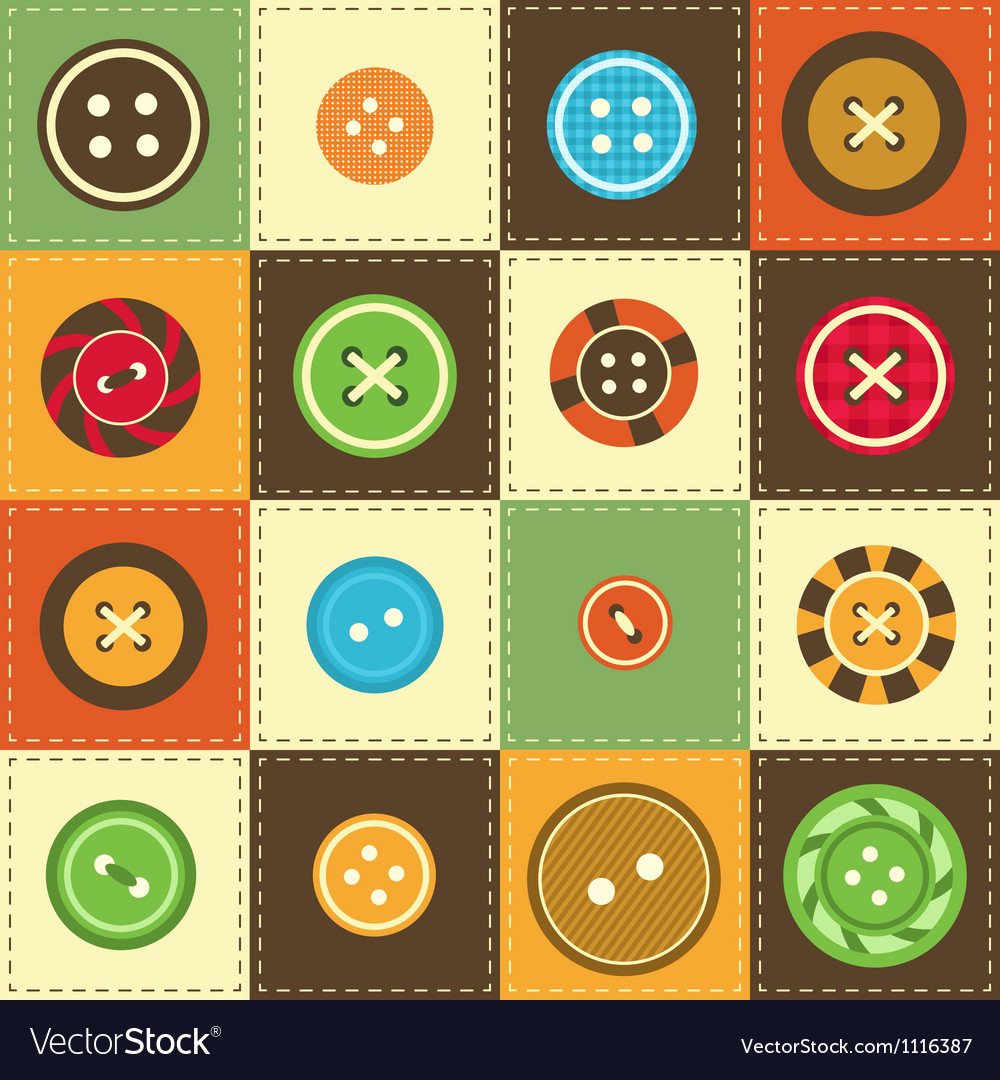 Various sewing buttons vector | Price: 1 Credit (USD $1)