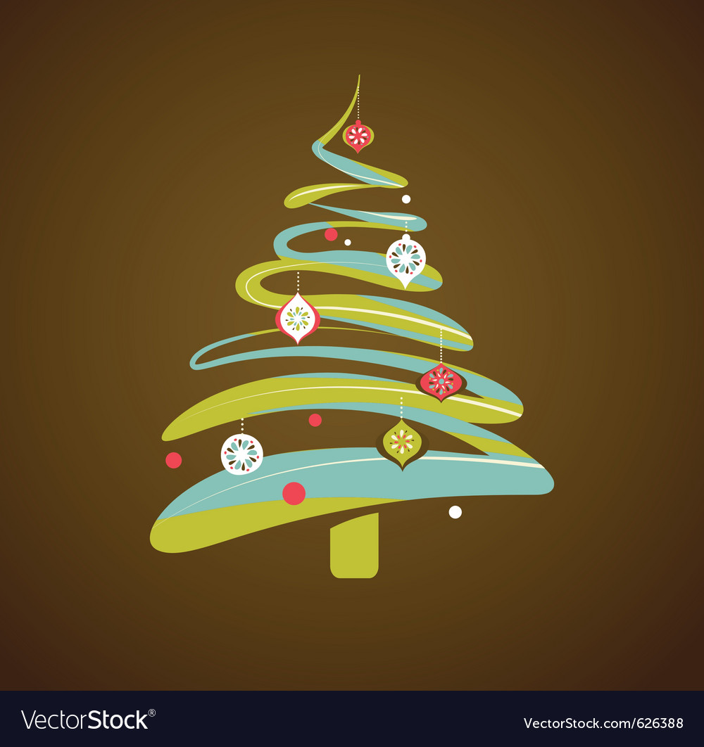 Christmas background with xmas tree vector | Price: 1 Credit (USD $1)