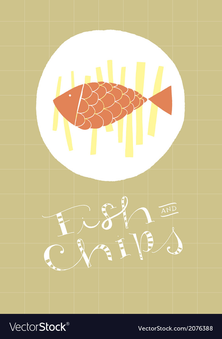 Fish and chips vector | Price: 1 Credit (USD $1)