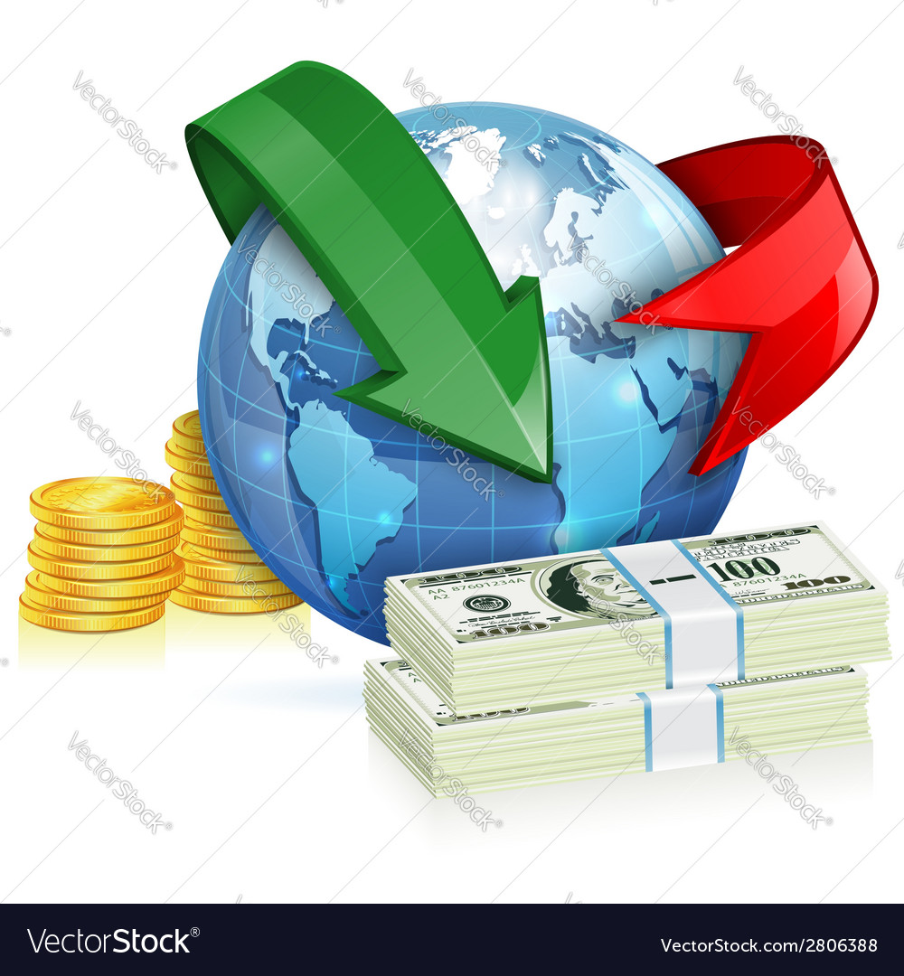 Global money transfer concept vector | Price: 3 Credit (USD $3)