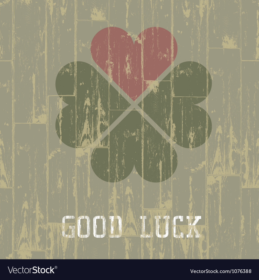 Good luck retro symbol vector | Price: 1 Credit (USD $1)