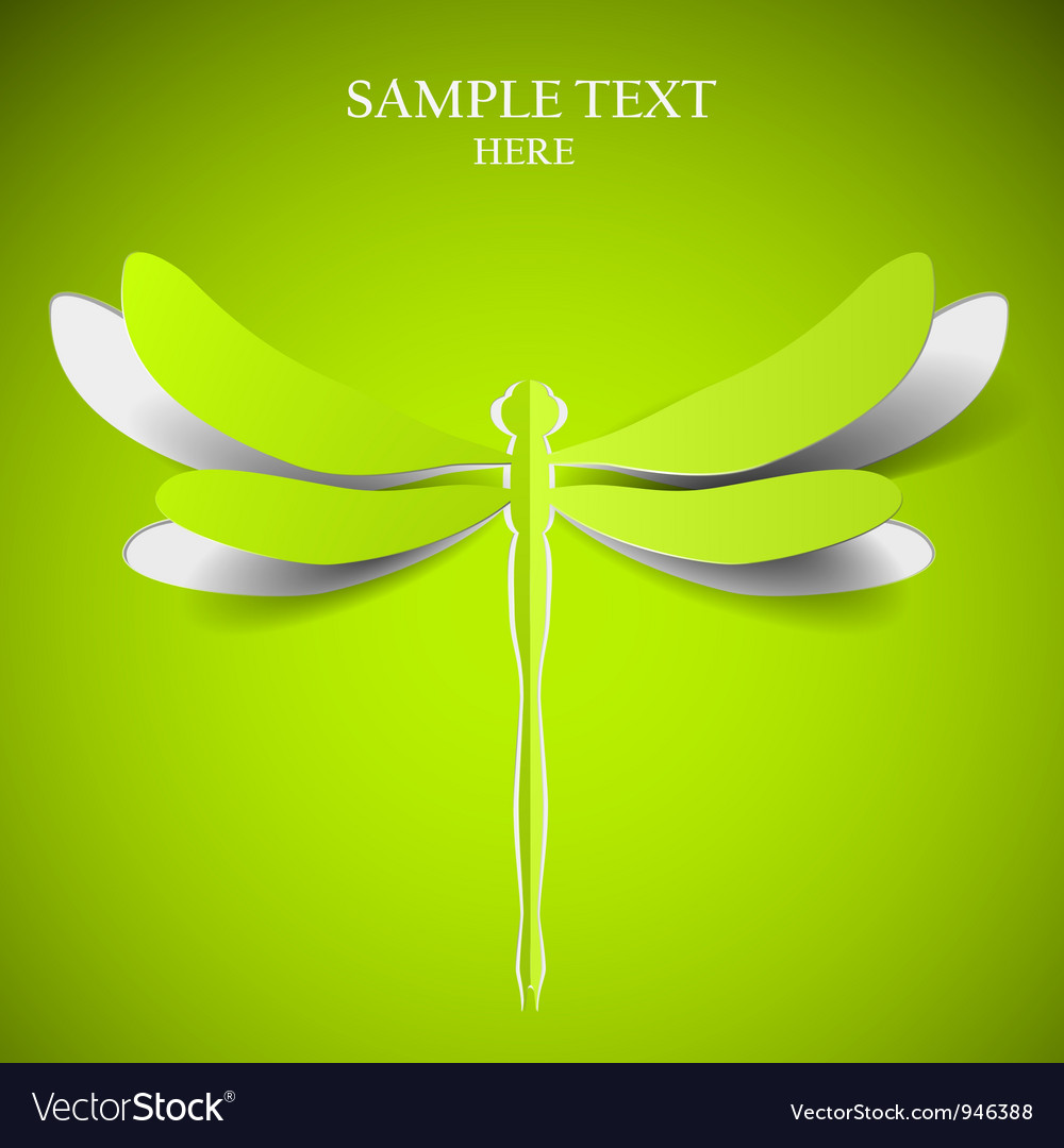 Green dragonfly vector | Price: 1 Credit (USD $1)