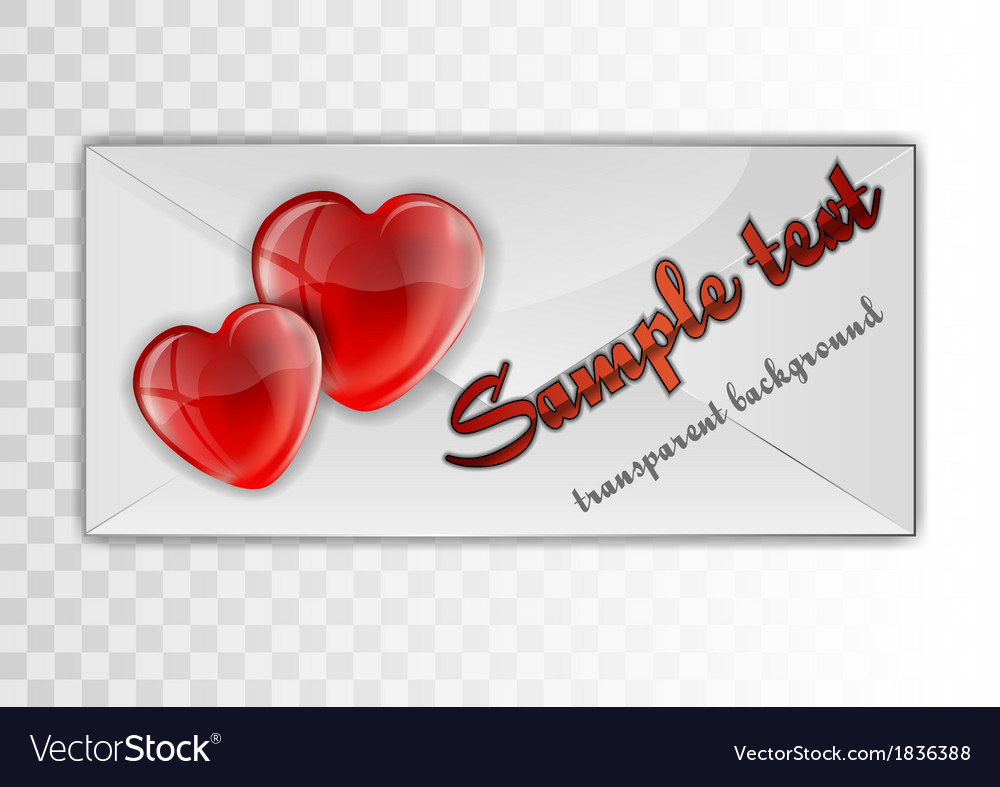 Heart card transparent sample text vector | Price: 1 Credit (USD $1)