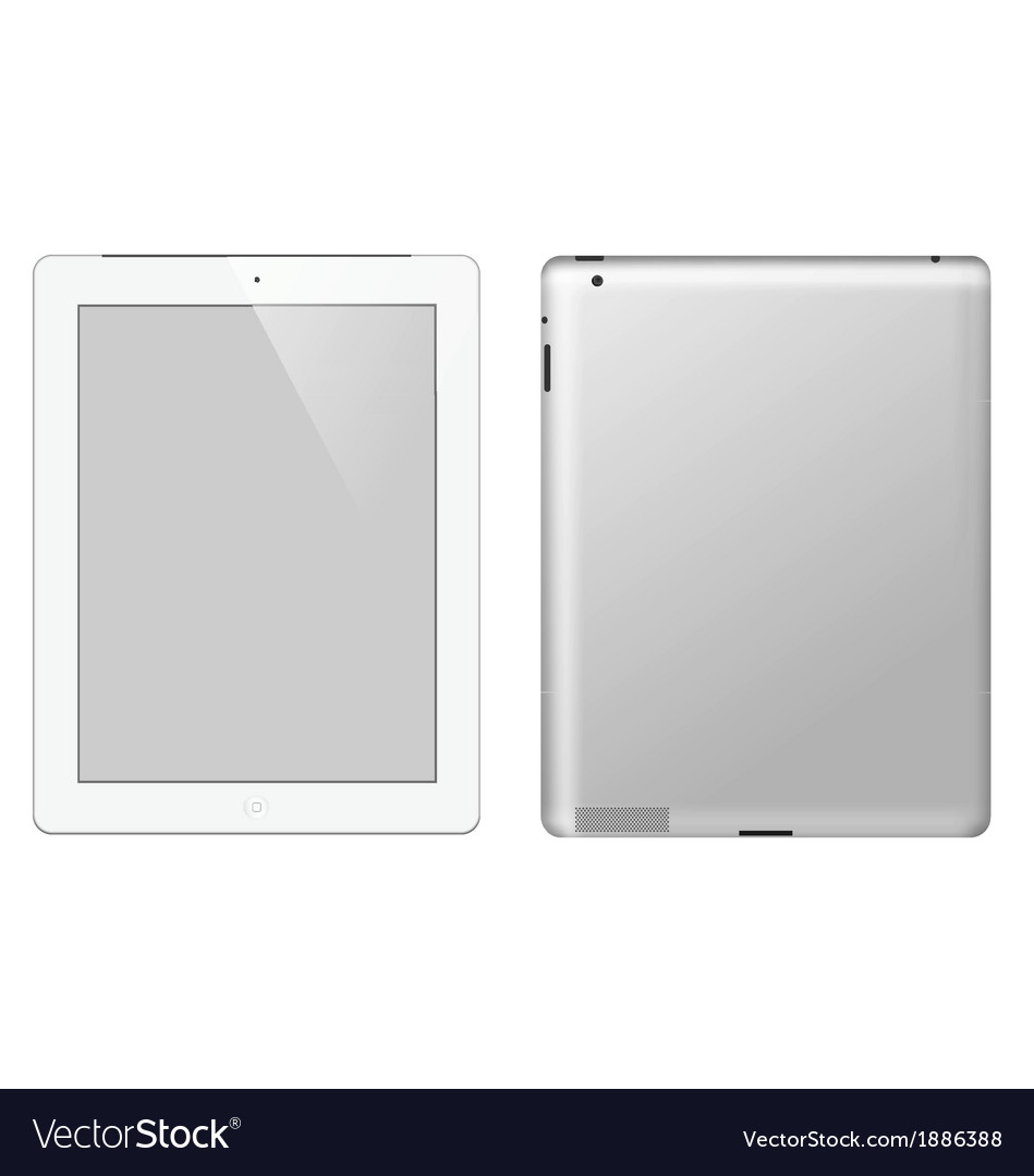 I pad tablet computer vector | Price: 1 Credit (USD $1)