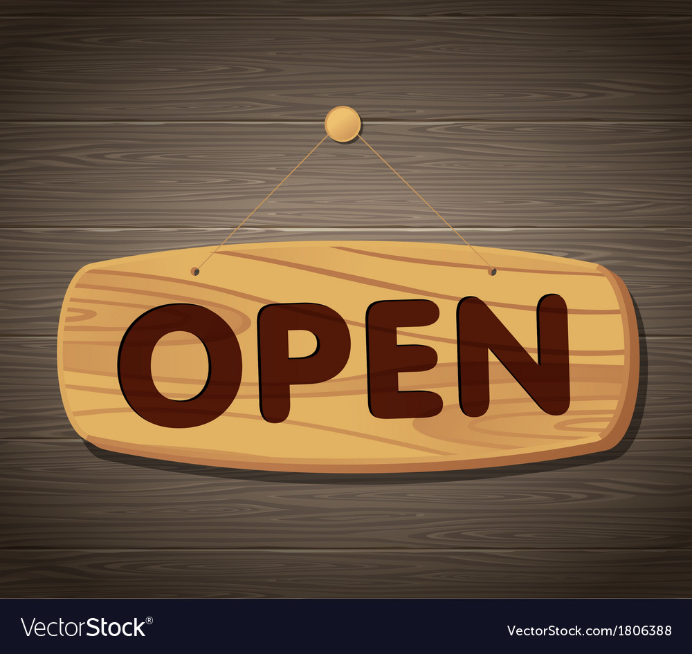 Open wooden sign background vector | Price: 1 Credit (USD $1)
