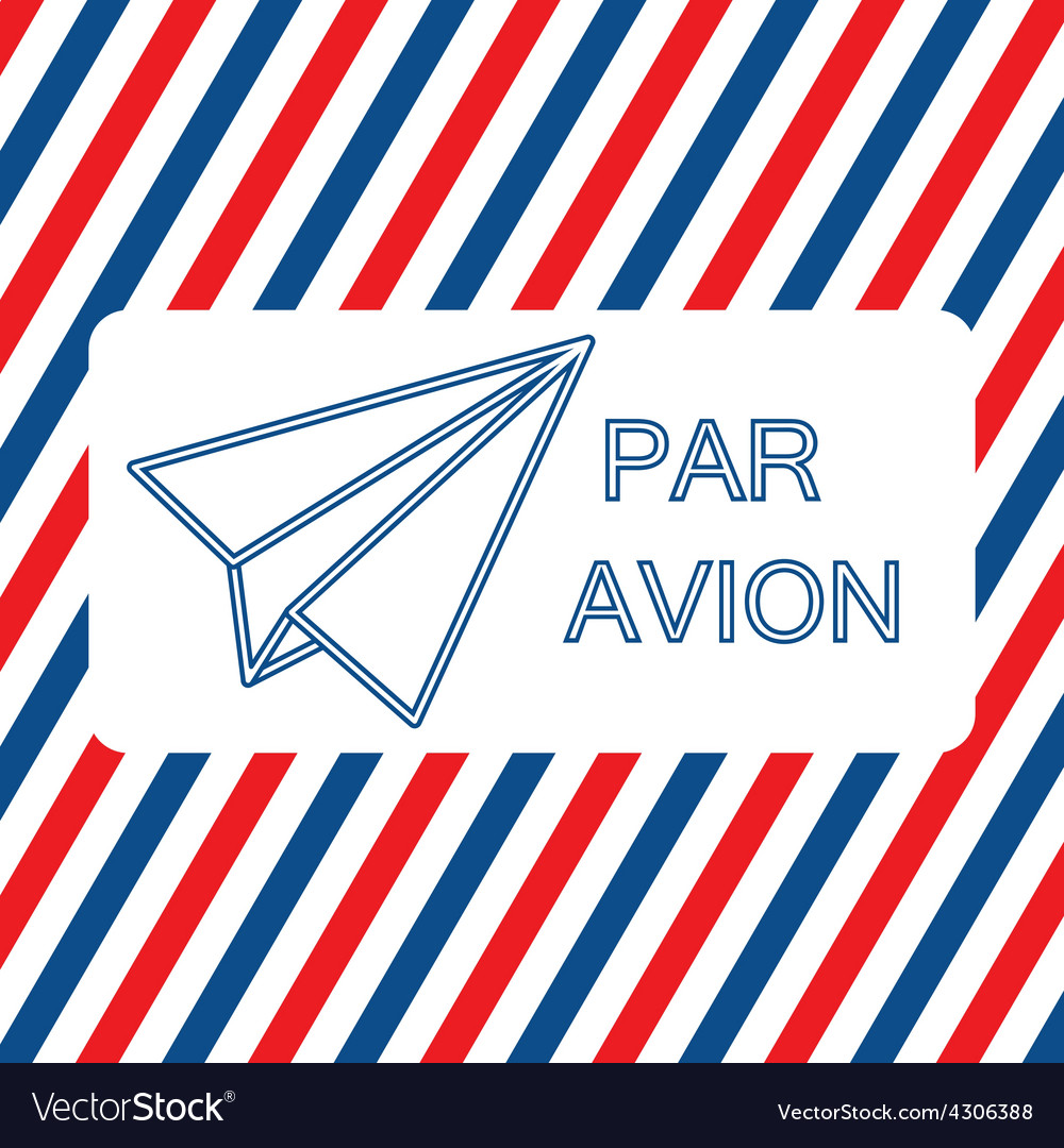 Par avion or air mail on the vector | Price: 1 Credit (USD $1)