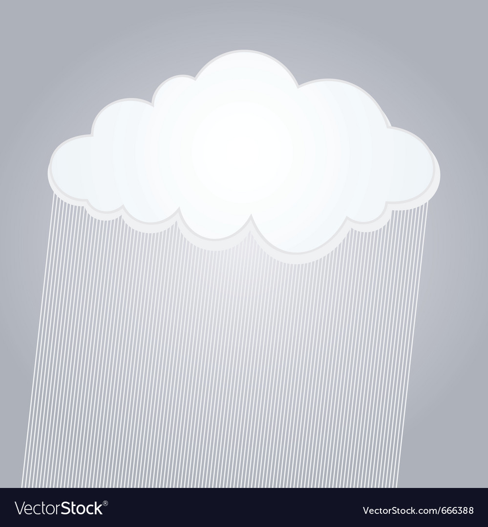 Raining cloud vector | Price: 1 Credit (USD $1)