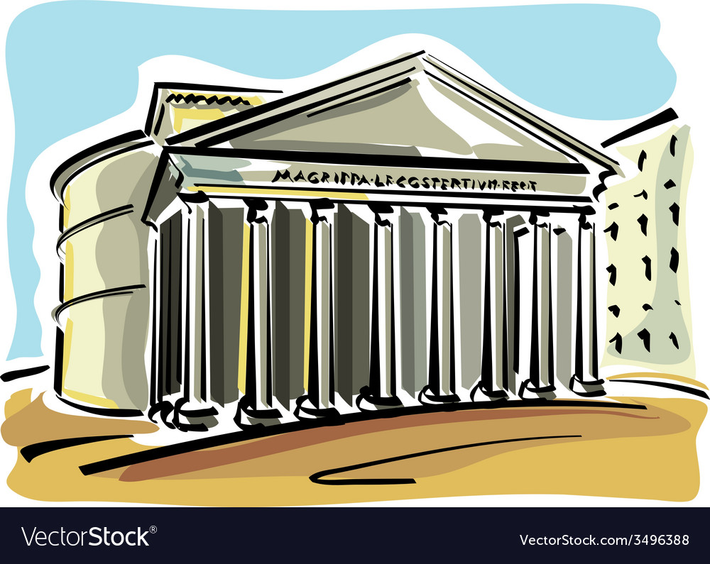 Rome pantheon vector | Price: 1 Credit (USD $1)