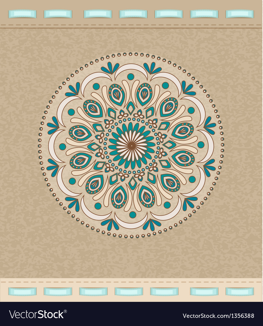 Vintage background with oriental ornaments and rib vector | Price: 1 Credit (USD $1)