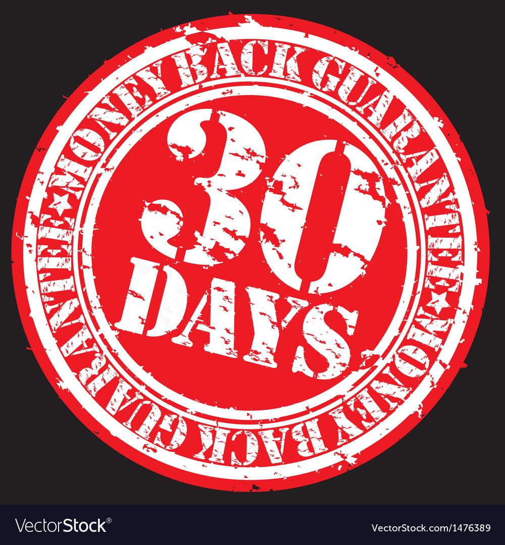 30 days money back guarentee stamp vector | Price: 1 Credit (USD $1)