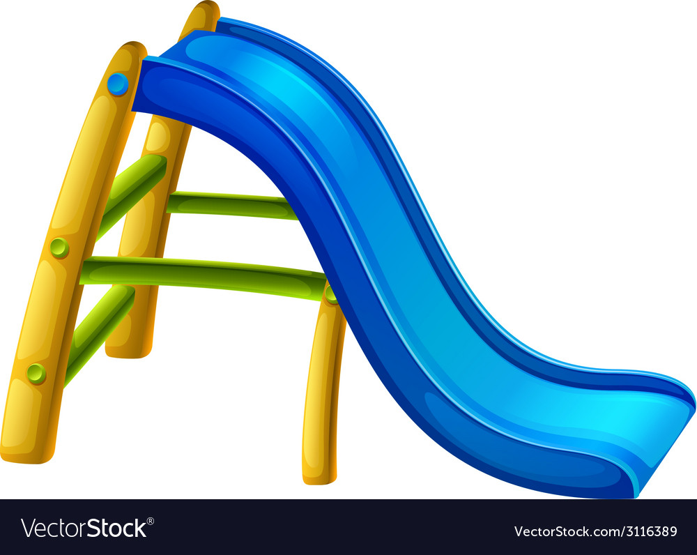 A slide at the playground vector | Price: 1 Credit (USD $1)