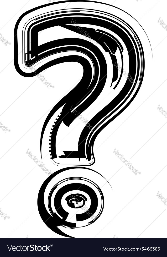 Abstract question mark vector | Price: 1 Credit (USD $1)