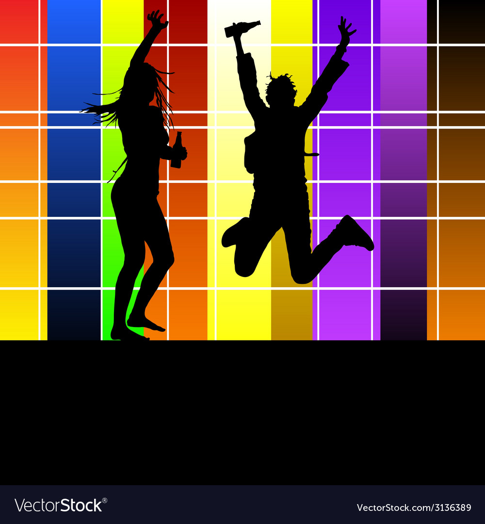 Couple in the party vector | Price: 1 Credit (USD $1)